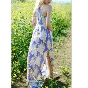 ASTR Purple Printed Casual Maxi Dress